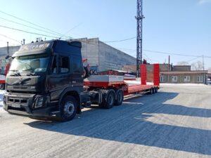 Новый тягач Volvo с прицепом ООО «ТрансСервис» Тюмень