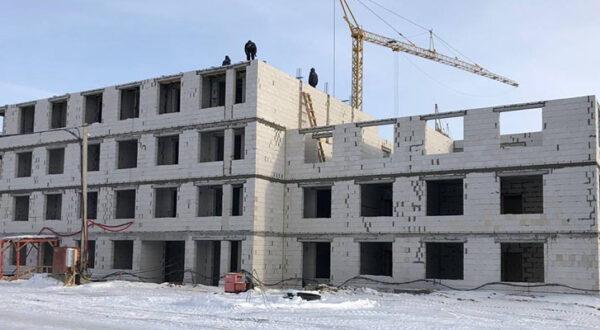 Работы по возведению коробки здания ГП-4 в ЖК «Среда»