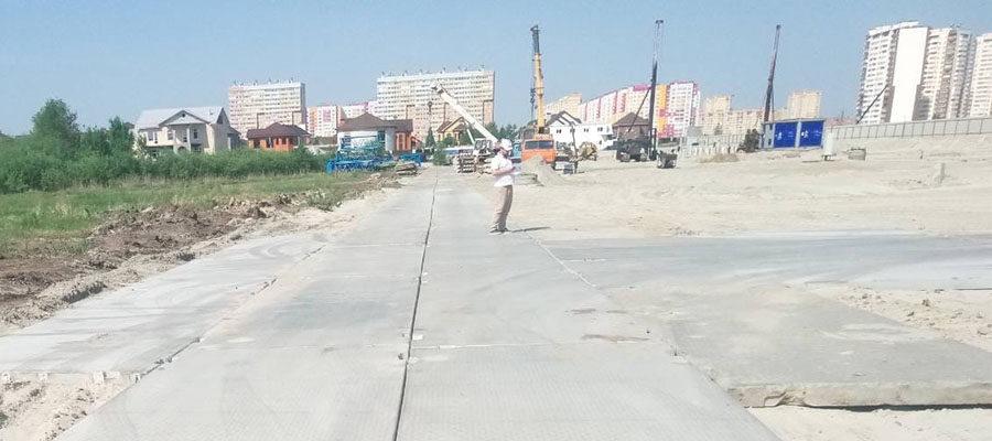 Дорога в ЖК «Скандиа в Комарово», Калининский округ, Тюмень
